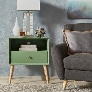 side table living room. Marin Danish Modern 1 drawer Storage Accent Side Table iNSPIRE Q Coffee  Console Sofa End Tables For Less Overstock com