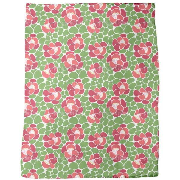 Spring Petals Fleece Blanket