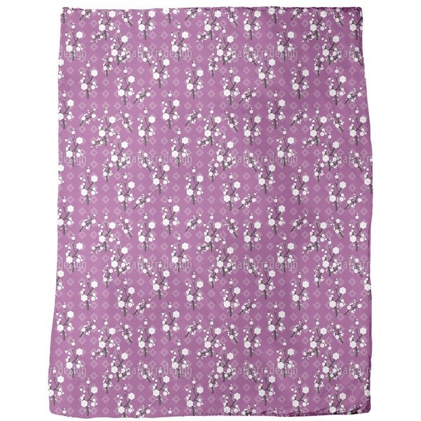 Hanami Purple Fleece Blanket