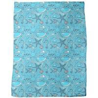 Happy Ocean Blues Fleece Blanket