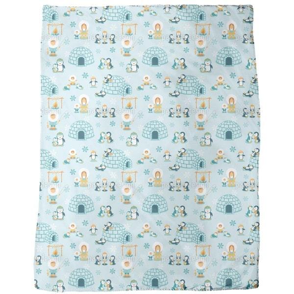 Snowland Family Fleece Blanket
