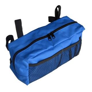 Senior Mobility Walker Accessory Bag Blue with Black Trim