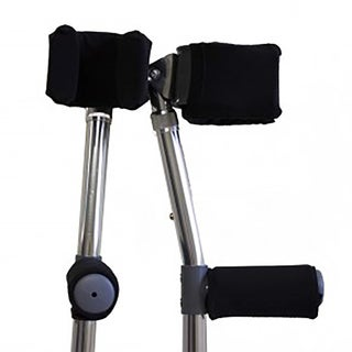Senior Mobility Forearm Crutch Arm Cuff Padded Covers and Padded Hand Grips Set