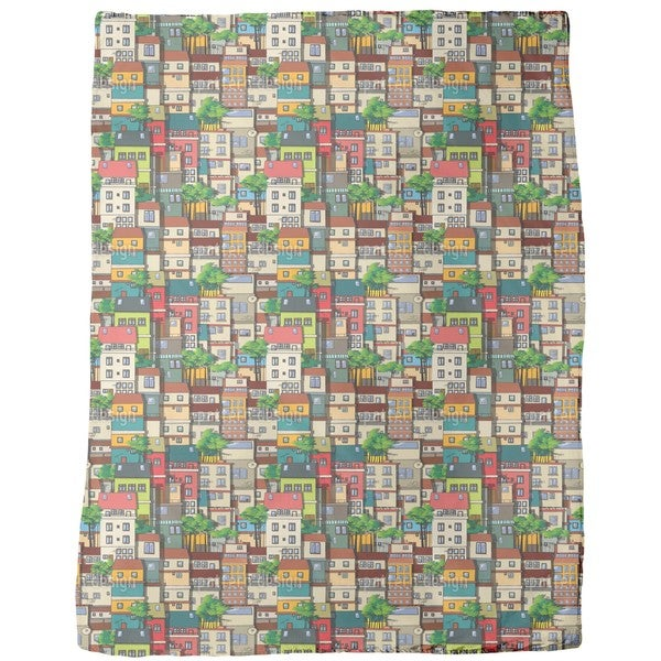 Favela Brazil Fleece Blanket
