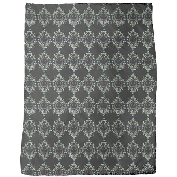 Forget-Me-Not Fence Fleece Blanket