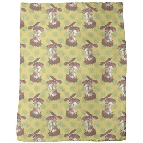 Lucky Mushrooms Fleece Blanket