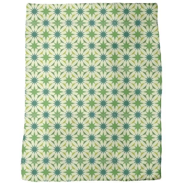 Shop Etoiles Du Vert Fleece Blanket Free Shipping Today Classy Etoile Throw Blanket