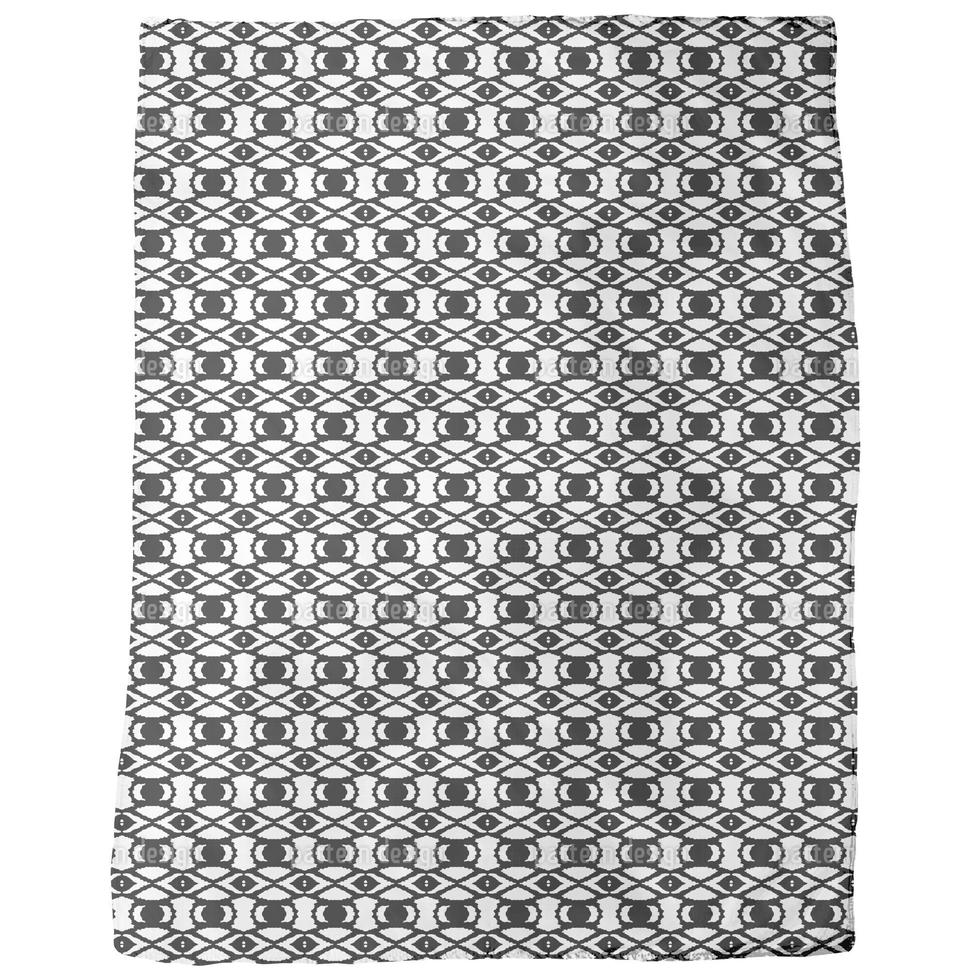 Uneekee Eyes of Africa Fleece Blanket (Small), Black