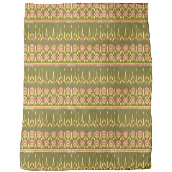 Multicultural Ikat Fleece Blanket