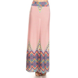 Women's Polyester Pattern Maxi Skirt