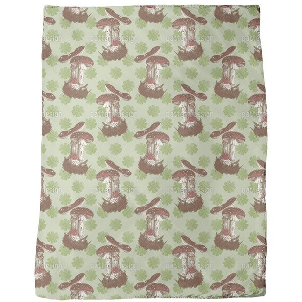 The Lucky Mushroom Fleece Blanket