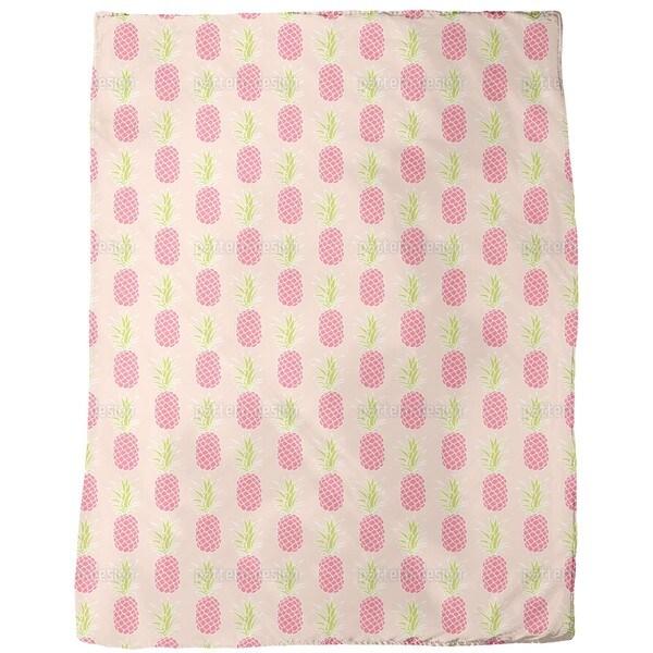 Pineapple Sunset Fleece Blanket