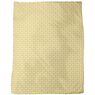 Bamboo Yellow Fleece Blanket