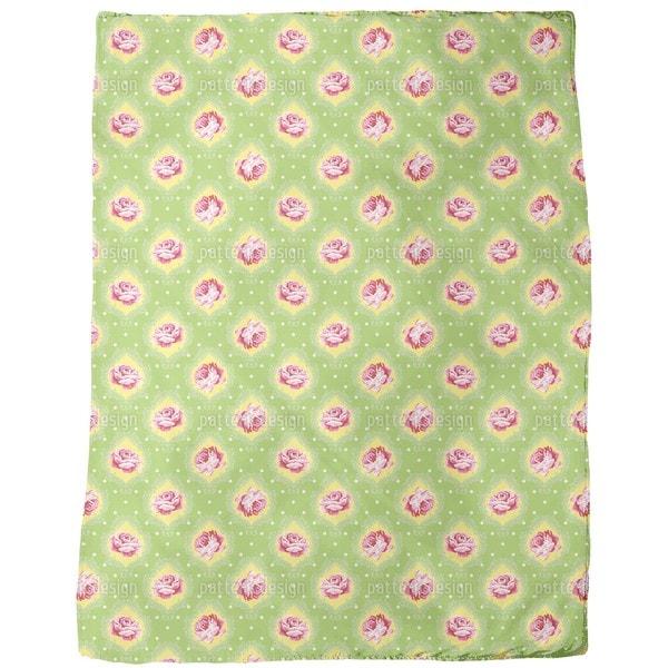 Rose Damask Fleece Blanket