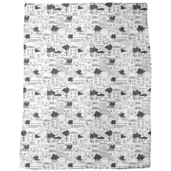 Favela Silhouette Fleece Blanket