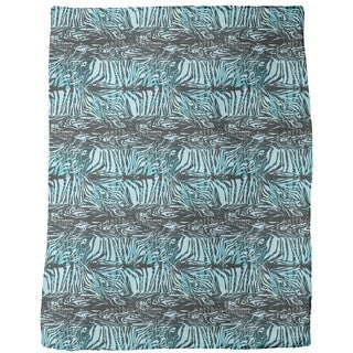 Zebra Fur Blue Fleece Blanket