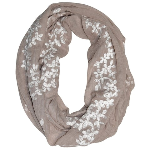 Peach Couture Women's Floral infinity Loop Scarf