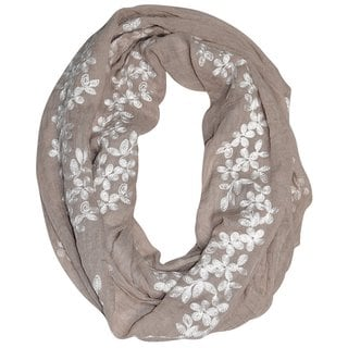 Link to Peach Couture Women's Floral infinity Loop Scarf Similar Items in Scarves & Wraps