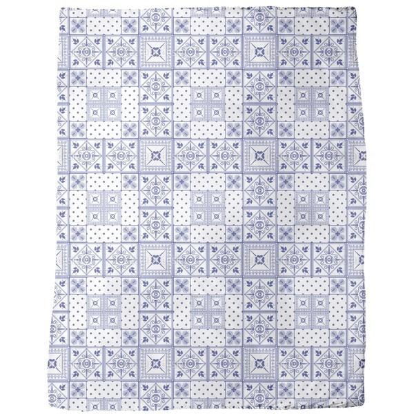 Classic Tiles Fleece Blanket