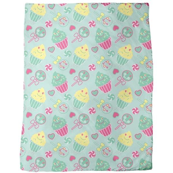 Happy Desserts Mint Fleece Blanket