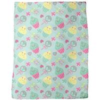 Happy Desserts Mint Fleece Blanket