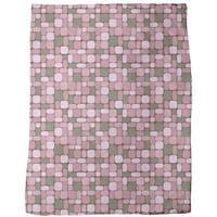 Geometric Retro Romance Fleece Blanket