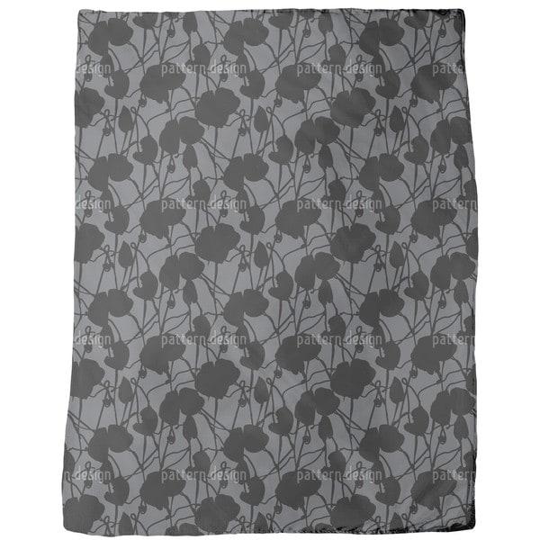 Ink Flora Fleece Blanket