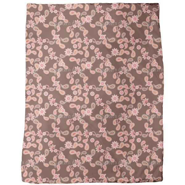 Paisley in Brown Fleece Blanket