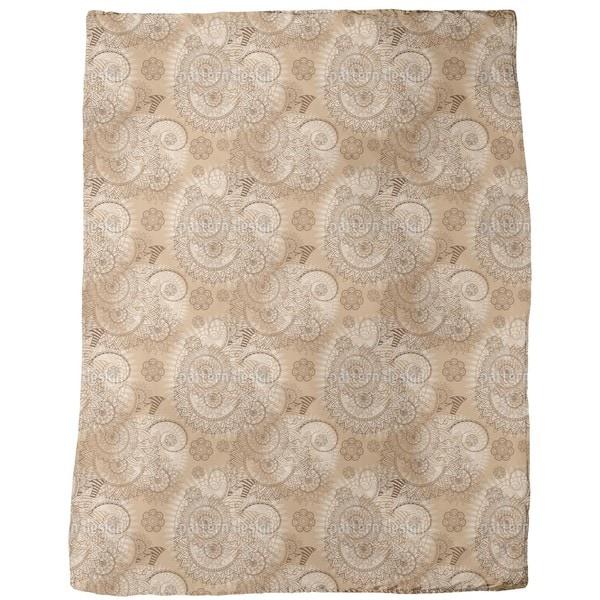 Indian Lace Fleece Blanket