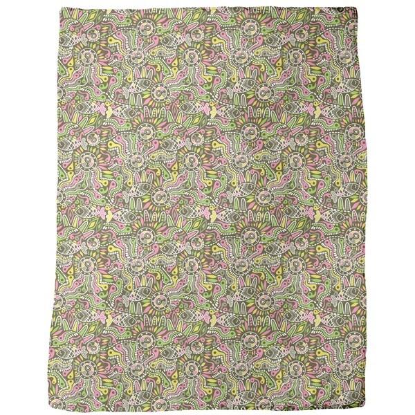 Ethno Fish Fleece Blanket