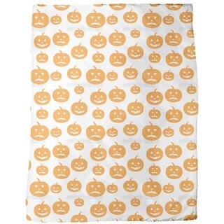 Halloween Pumpkins Fleece Blanket