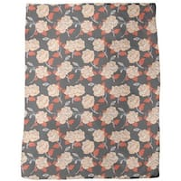 Baroque Roses Fleece Blanket