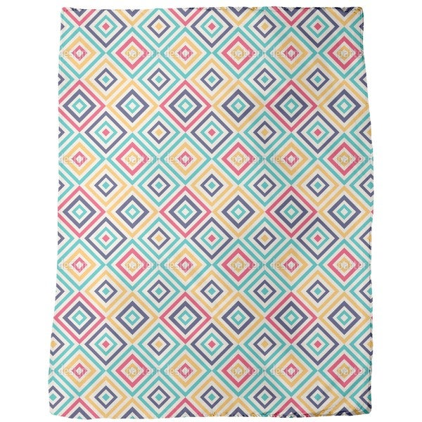 Geometry To the Square Fleece Blanket