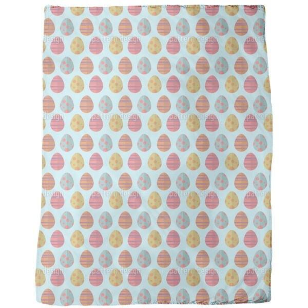 Colorful Easter Eggs Fleece Blanket