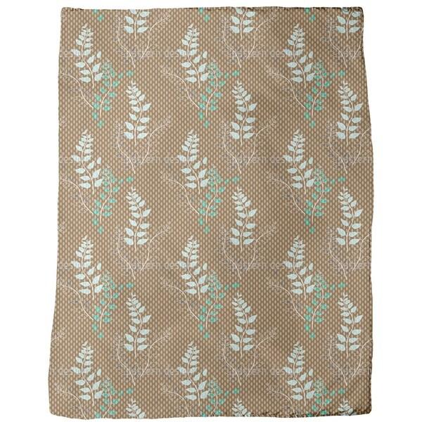 Nystad Blum Fleece Blanket