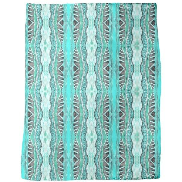 Massai Turquoise Fleece Blanket