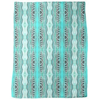 Massai Turquoise Fleece Blanket