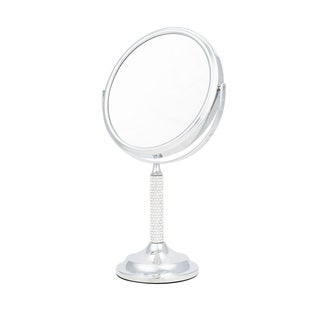 Upper Canada Chrome Crystal Stem Round Vanity Mirror