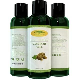 Rise 'N Shine 16 oz. Organic Castor Oil 100-percent Expeller Pressed Castor Oil, Great Moisturizer for Skin, Hair, and Scalp.