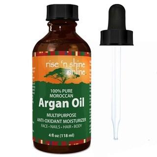 Rise 'N Shine Pure Moroccan 4-ounce Argan Oil Best for Hair, Skin & Nails