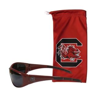 NCAA Sports Team Logo South Carolina Gamecocks Sunglasses and Bag Set