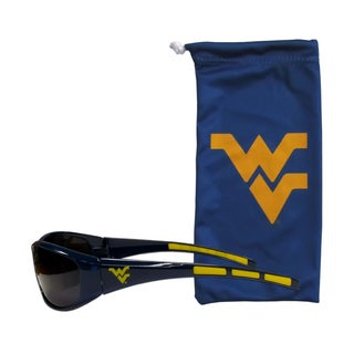 NCAA West Virginia Mountaineers Sports Team Logo Sunglasses and Bag Set