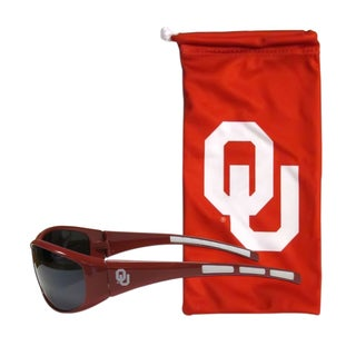 NCAA Sports Team Logo Oklahoma Sooners Sunglasses and Bag Set