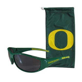NCAA Sports Team Logo Oregon Ducks Sunglasses and Bag Set