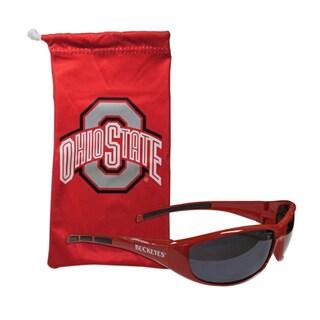NCAA Sports Team Logo Ohio St. Buckeyes Sunglass and Bag Set