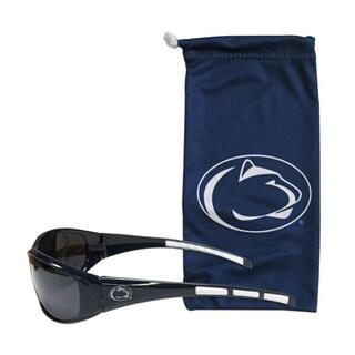 NCAA Sports Team Logo Penn St. Nittany Lions Black Sunglasses with Carry Bag
