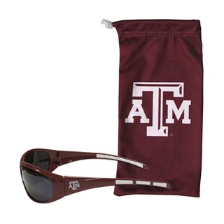 NCAA Texas A&M Aggies Sports Team Logo Sunglasses and Bag Set