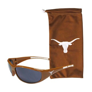 NCAA Sports Team Logo Texas Longhorns Sunglasses and Bag Set