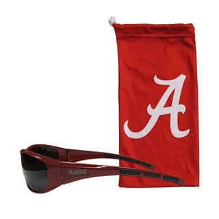 NCAA Sports Team Logo Alabama Crimson Tide Sunglasses and Bag Set