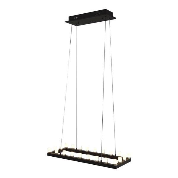 OVE Decors Gemma Black Finish Iron and Acrylic LED Integrated 6-light Pendant - Black Finish